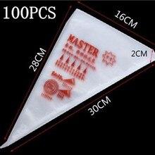 Горячая 100 шт./компл. одноразовый мешок для теста конвейерное покрытие кондитерские изделия кекс Отделка сумки форма для печенья