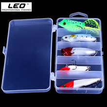 5Pcs Artificial Fishing Lures Set Minnow Popper Crankbait VIB Rubber Frog Fake Fishing Lure Baits Sea Fishing Tackle(China)