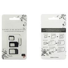 SIM Card Adapter 4 in 1 Nano Micro SIM Adapters Standard SIM Card Adapters Eject Pin For iphone 4 4S 5 6 6S 7 8 X Plus Phones 70