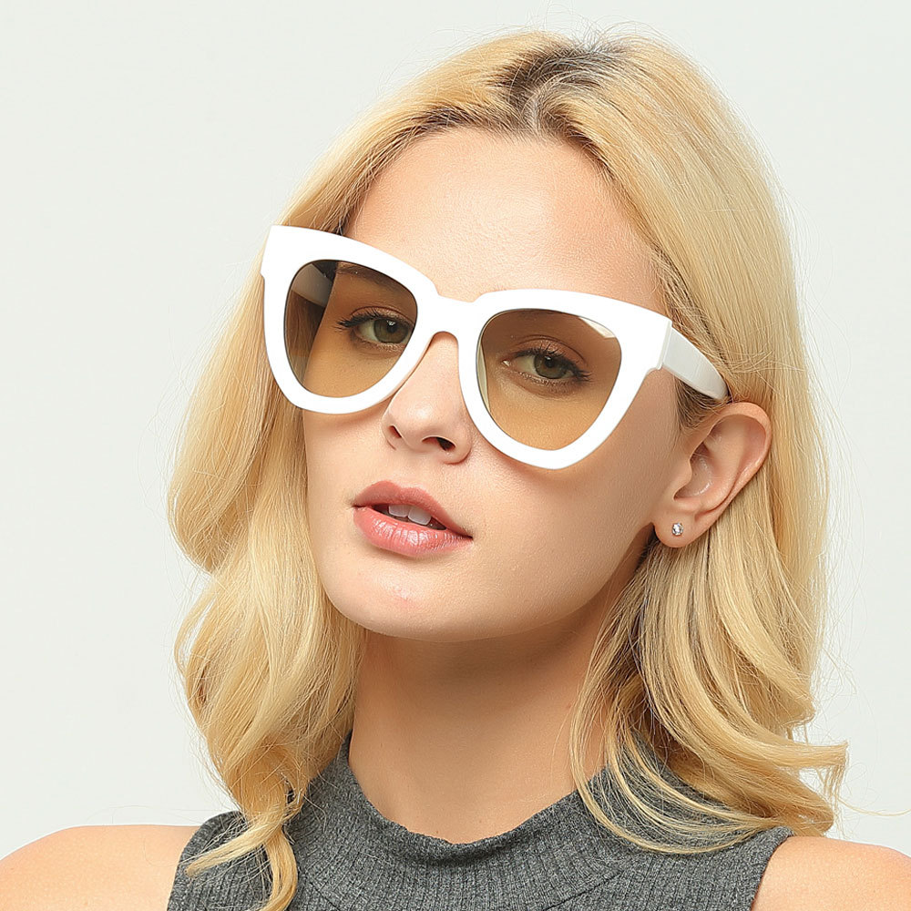 Newest Sunglasses Women Brand Designer CatEye Sungalsses Plastic Oversized Man Sunglasses Vintage Shade oculos