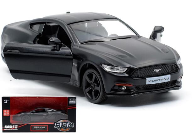 1pc 1:36 12.5cm delicacy cool black Ford Mustang 2015 car pull back alloy model vehicle home decoration boy toy gift hot sale ford mustang police 1 18 welly s281 original alloy car model toy matte black fast