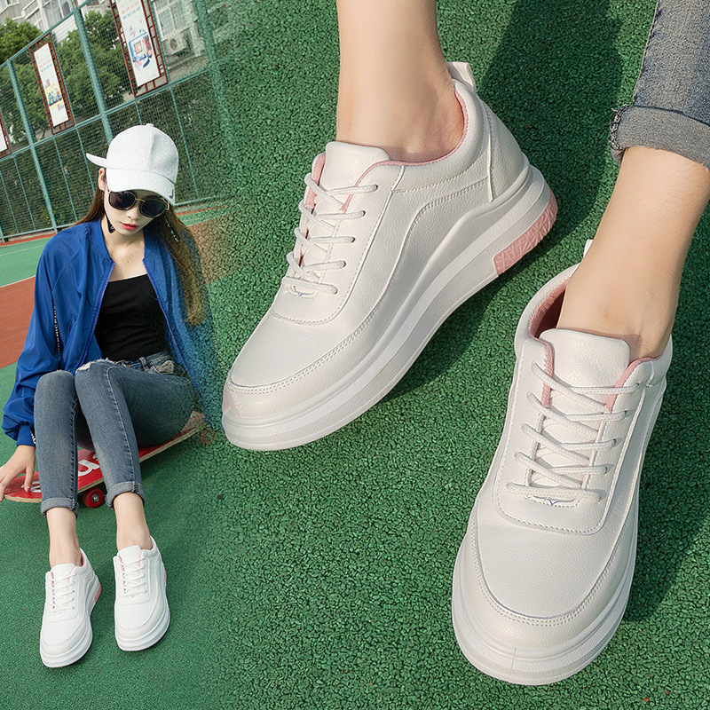 2019  2019Hot Sale Rround Head Casual White Shes    HTX-01-HTX-05
