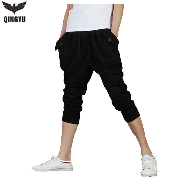 2016 Mens Casual Baggy Harem Pants Masculino Lazer Calças Curtas Soltas sweatpants tamanho XXL pantalon homme