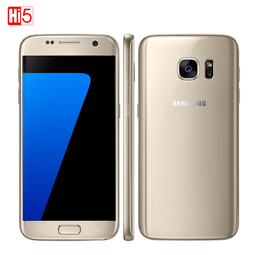 Desbloqueado Samsung Galaxy S7 Smartphone 5,1 ''4 GB RAM 32 GB ROM Quad Core NFC 12MP 4G LTE huella digital G930V/G930F pantalla recta