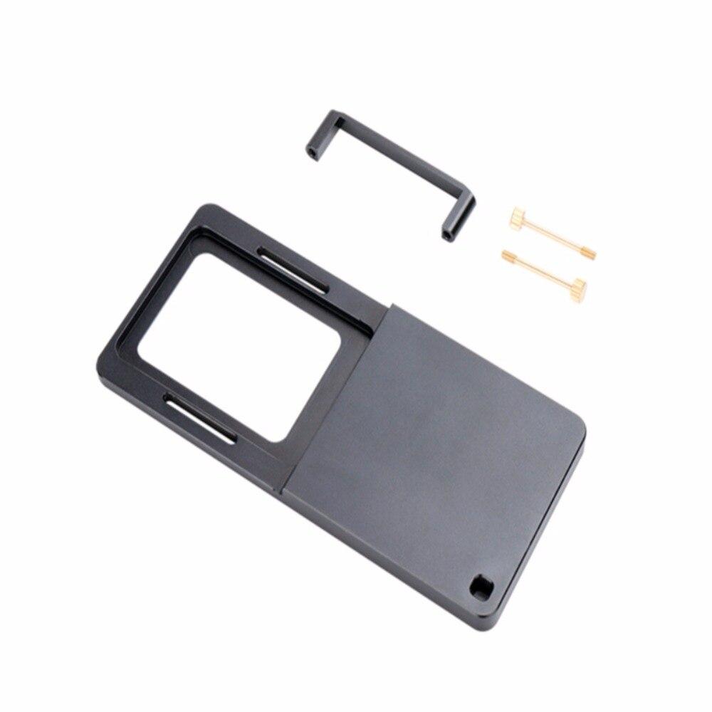 Para Zhiyun Handheld Smartphone Gimbal nuevo montaje acción Cámara placa adaptador para Gopro móvil Gimbal interruptor placa de montaje