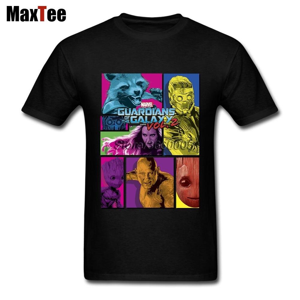 Neon Guardians of the Galaxy Tee Shirt For Men Top Design Short Sleeve Crewneck Cotton XXXL Group Tee Shirts