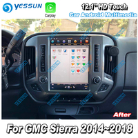 YESSUN For GMC Sierra 2014~2018 12.1'' HD Super Screen Car Android Carplay GPS Navi maps Navigation Radio Multimedia no CD DVD