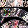 50 листов Красивые Цветы Nail Art Наклейки Наклейки Серии Аксессуары Nail Art Переброски Вод Ногтей Наклейки для наклейки этикета