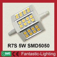 R7S Corn Lamp 5W 79mm SMD 5050 24 LED Energy Saving R7S Led Lamp 400LM CE