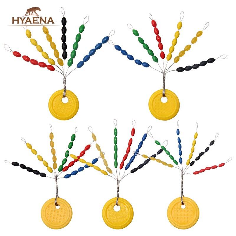 Hyanea 600pcs/lot Rubber Olive Fishing Space Beans Fish Float Bobber Stopper Fishing Line Stoper Round Float Ball Float Stopper