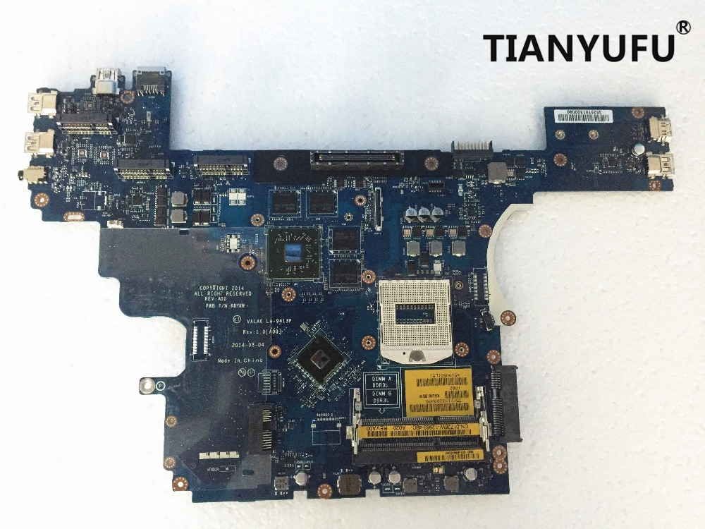 For Dell E6540 Laptop Motherboard LA 9413P CN 0R8YKW R8YKW with HD8790M video card 2 GB