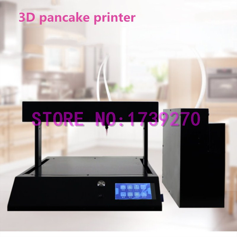 2018 3D food Printer, Colorful art Pancake Printer Sugar Painting Food Print machine flsun 3d printer big pulley kossel 3d printer with one roll filament sd card fast shipping