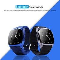 9 Tong Bluetooth Smart Horloge M26 met Muziekspeler Stappenteller Call SMS Herinneren Stappenteller Horloge voor Android OS Mobiele Telefoon C1