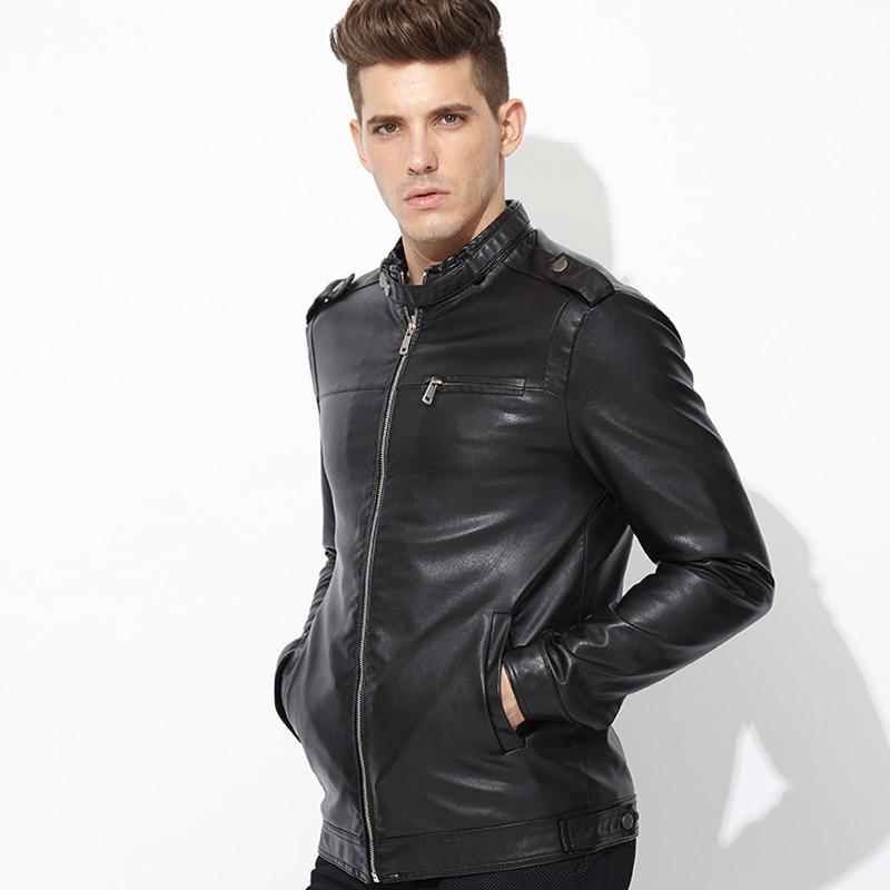 2015 Men's Leather Jacket New Hot Sale Brand Leather Jackets Men ...
