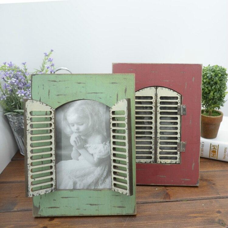 Charmant Vintage Fenster Bilderrahmen Fotos - Badspiegel Rahmen ...