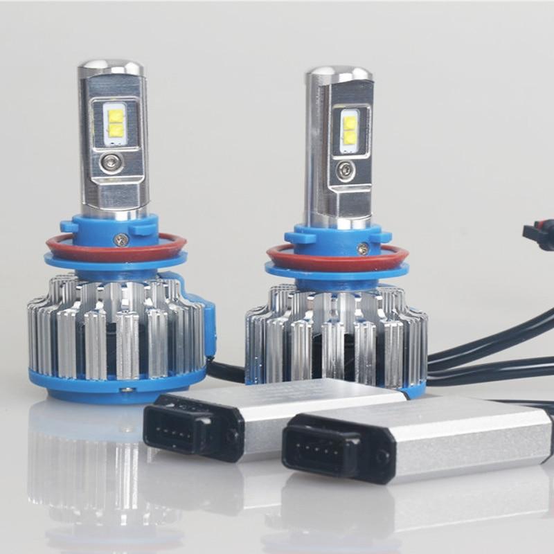 LED fənər H4 40W6000LM Hi-Lo şüa avtomobili LED - Avtomobil işıqları - Fotoqrafiya 3