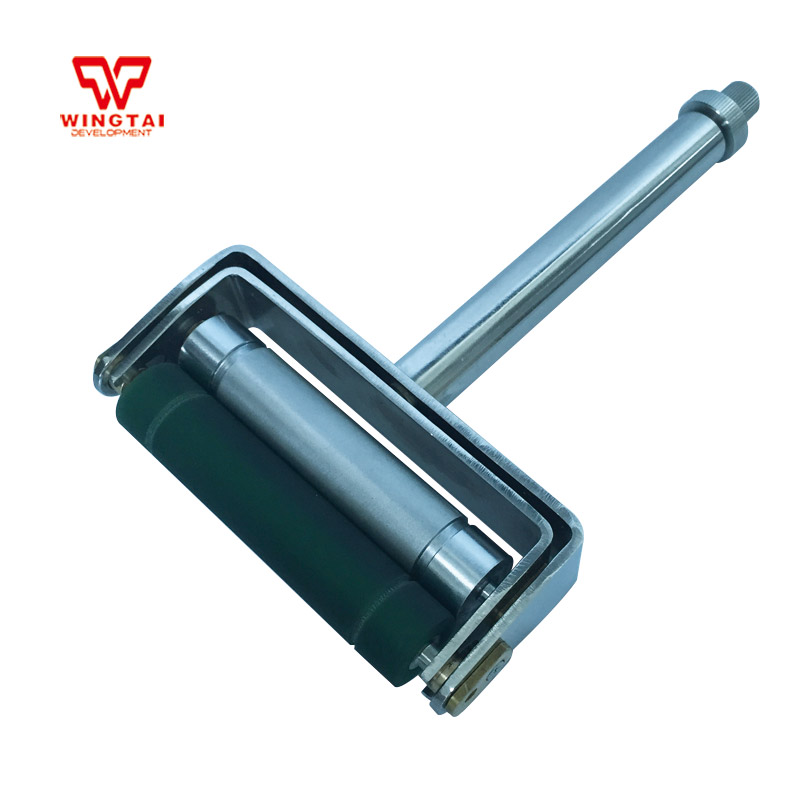 60~300 LPI Stainless Steel Handle Ink Proofer Chrome Anilox Rubber Roller Manual Ink Proofer magnetic mixing ink roller isolated ring