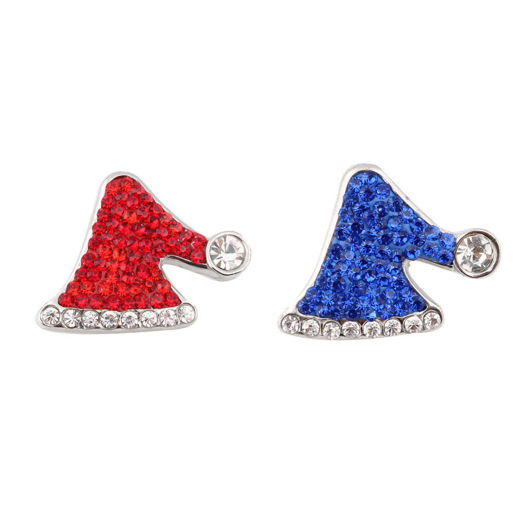 10Pcs/lot New Crystal Christmas Hat Xinnver Snap Jewelry 18mm Metal Snap For Bracelet & bangle ZC008