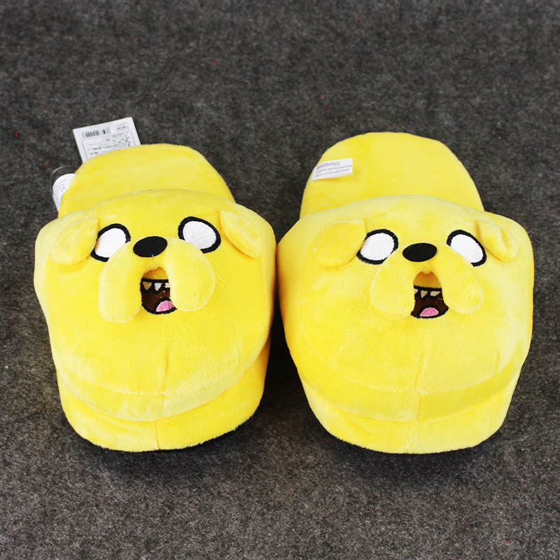 Adventure Time Jake Slipper Stuffed 27cm Jake Slipper Winter Warm Indoor for Adults Soft Plush Shoes