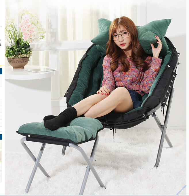 Fold the lazy sofa. Cloth art sofa chair. Reading chair