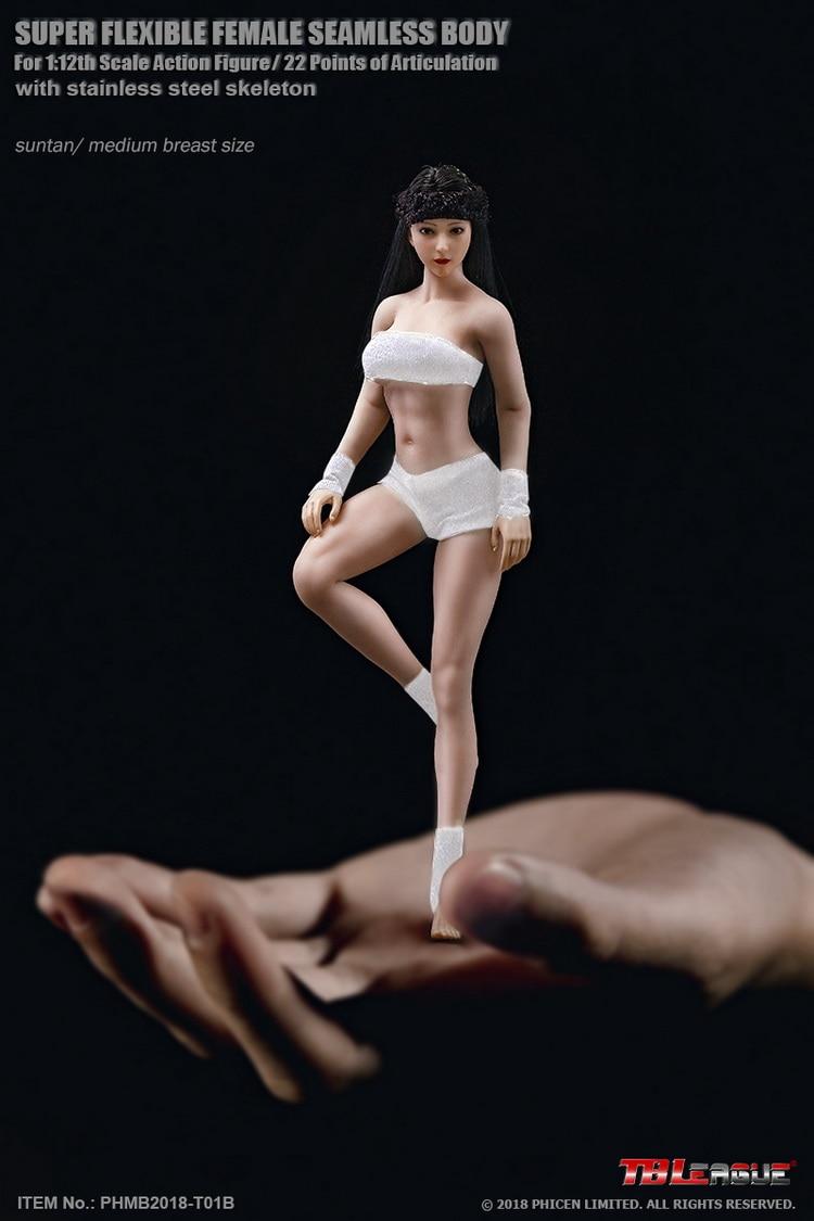 TBLeague Phicen PHMB2018 T01 1 12th Scale Super Flexible Female Seamless Body