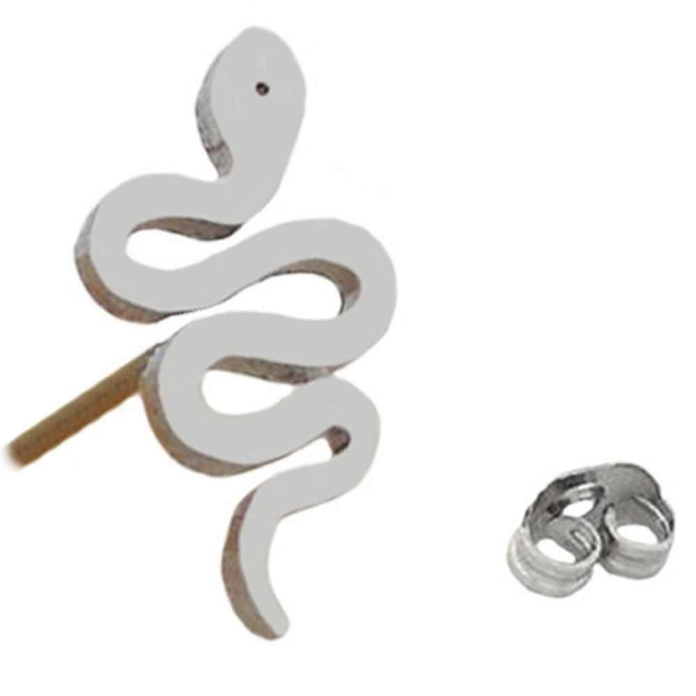 זרוק משלוח היפואלרגנית טיטניום פלדת נחש בצורת 1 חתיכה אישה מקסים עגיל תכשיטים