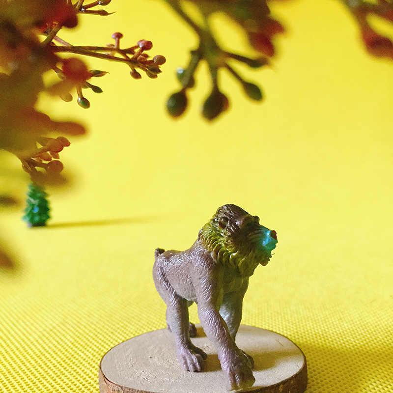 Vendita ~ 1 Pcs Mandrill/fairy garden gnome/muschio terrario decorazioni per la casa/artigianato statua/bonsai/ bottiglia giardino/miniature/figurine/