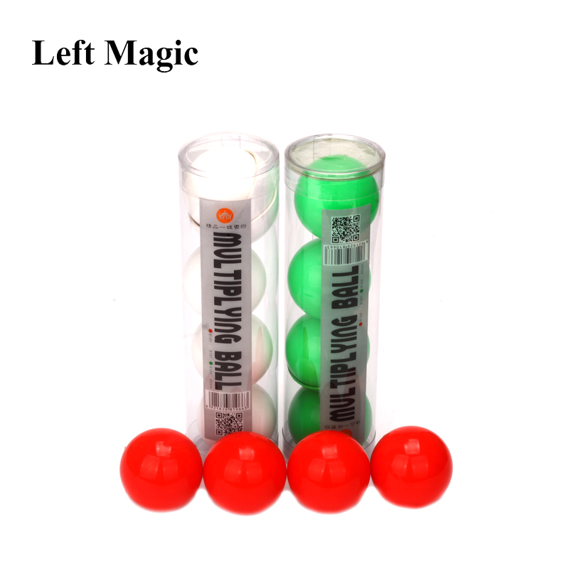 Deluxe Multiplying Balls (White/Red/green  Avaliable,43mm) One To Four Balls Soft Magic Tricks Stage Props Comedy Gimmick Illusi