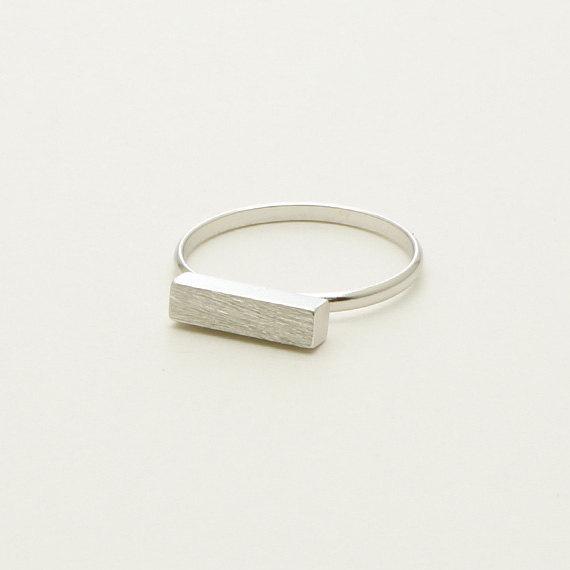 Minimalist Long Bar Ring