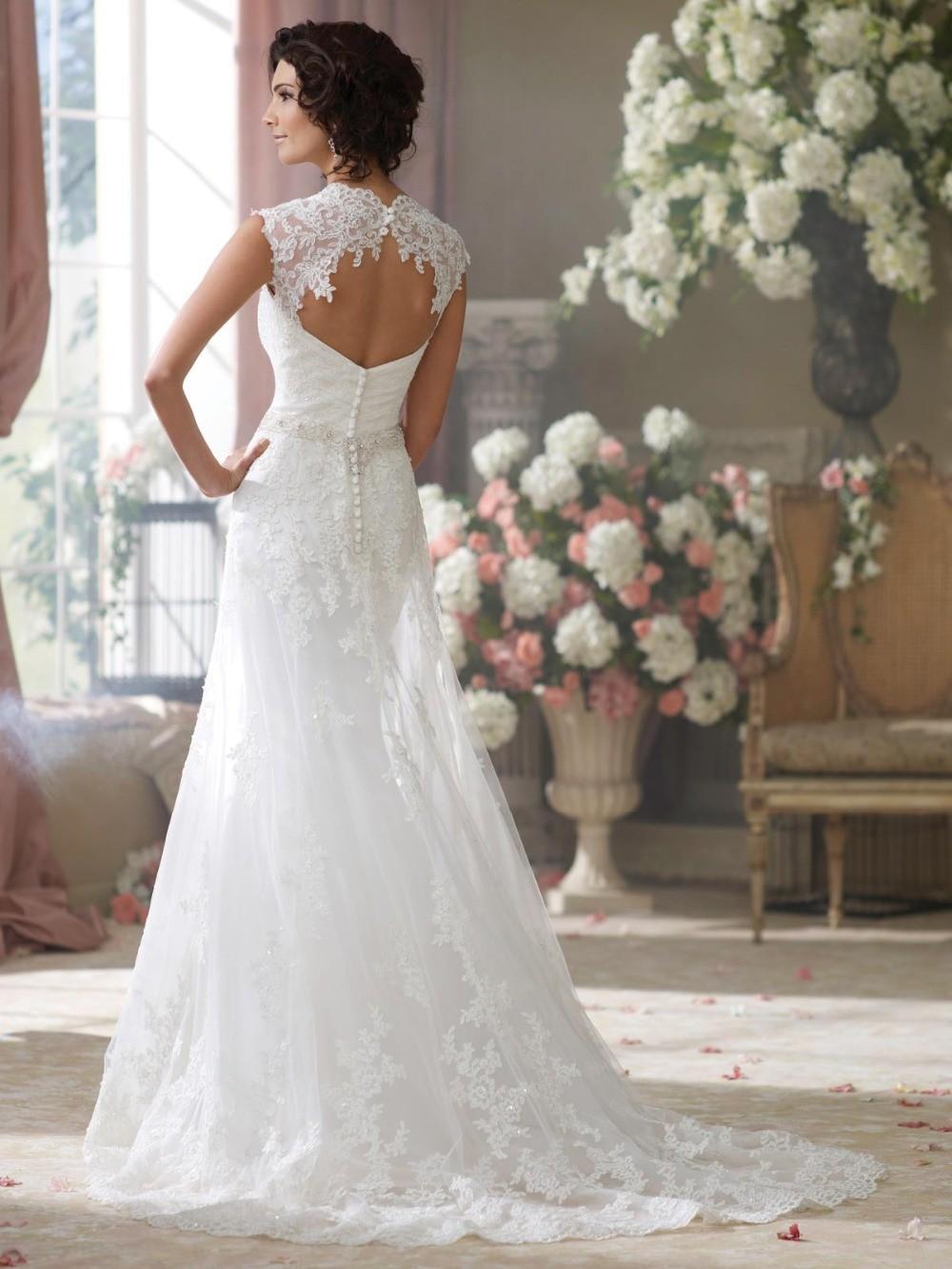 High-Quality-Alibaba-Amanda-Brides-Keyhole-Back-Classic-Lace-Wedding-Dress-2015 (1)