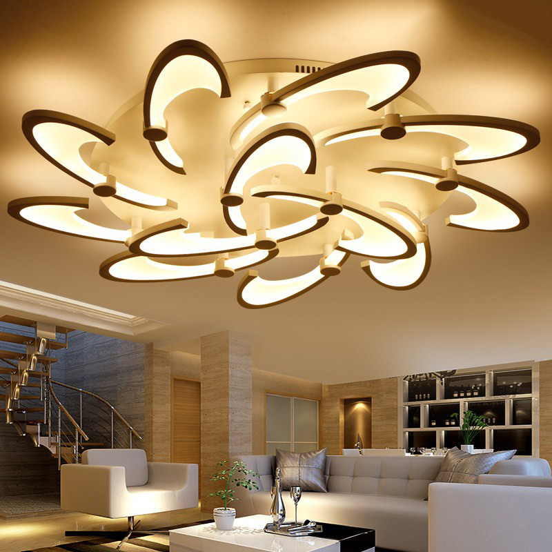 Lighting Fixtures For Home: ③Modern Acrylic Ceiling Lights Living Room LED Home