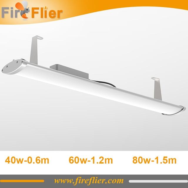 Us 6800 10 Sztuk Trwałe 5ft Liniowy Highbay Lowbay Led światła 80 W 1500mm 1200mm Garaż Parking Oświetlenie Lampy 60 W 4ft 40 W 2ft Rury 50 W W 10