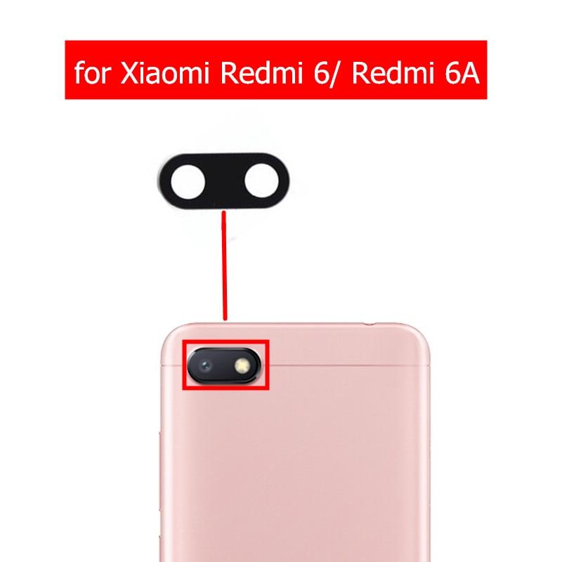 Glass-Lens Back Repair-Spare-Parts Redmi 6-Replacement Camera Xiaomi 2pcs for Rear