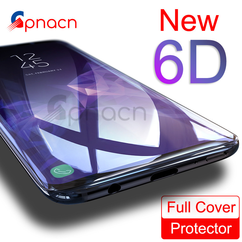 GPNACN 6D Tempered Glass For Samsung Galaxy S8 Plus Glass Note 8 S9 Screen Protector Film For Samsung S9 Plus Full Cover Glass tempered glass for samsung galaxy note 10 1 n8000 n8010 tablet screen protector film premium for samsung note 800 glass film 9h