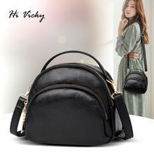 2019 Brand Women Handbags Fashion Shoulder Bag High Quality Handbag Black Casual Tote Female Vintage PU Leather Crossbody bag