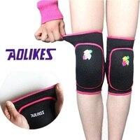 Aolikes alta calidad Linda protección de la rodilla niños de baile rodillera deportes Baloncesto fútbol rodilla protector para niños