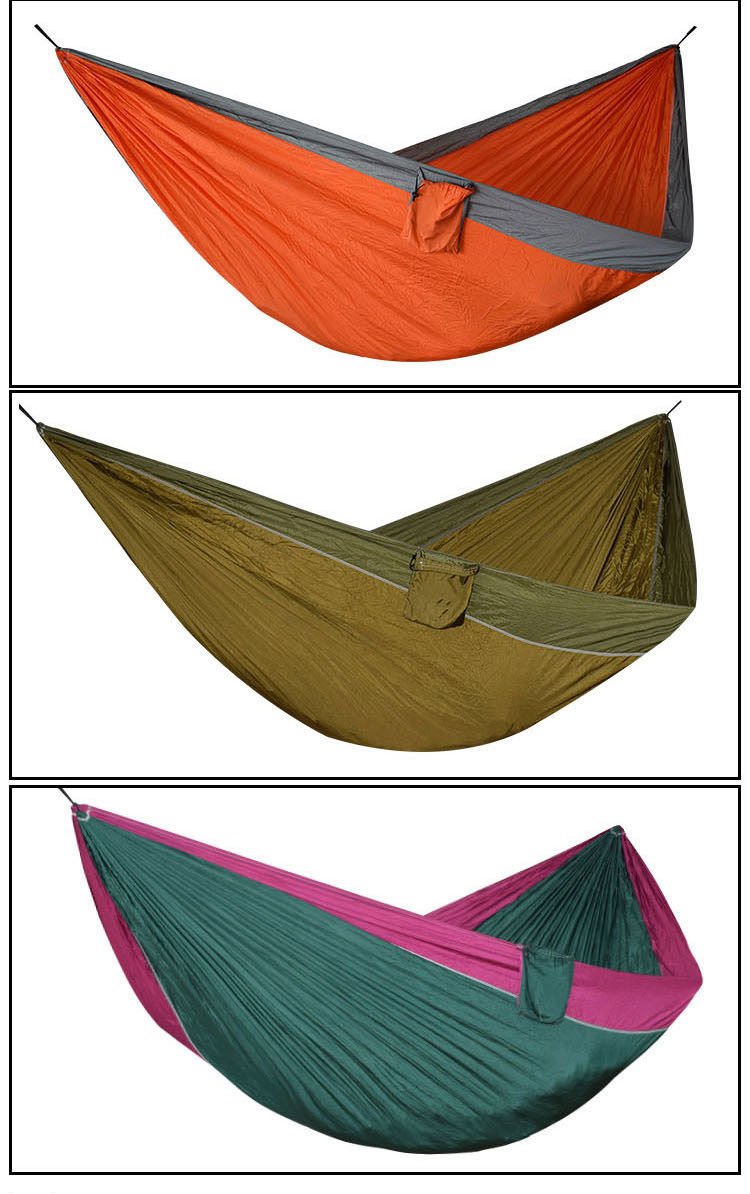 1 2 Person Large Camping Hammock For Outdoor Indoor Relax Leisure Hanging Swing Hamak 300 175cm Super Size Durable Survival Hamac