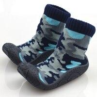 KiDaDndy להחליק אנטי גרבי תינוק כותנה ילודים עם גומי נעל רך תחתון רגל גרבי ילדים פעוט חם HJS7173