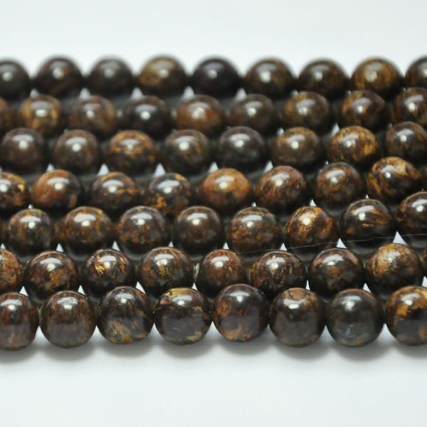 hot natural 8mm loose semi precious stone round bead strands bronze stone
