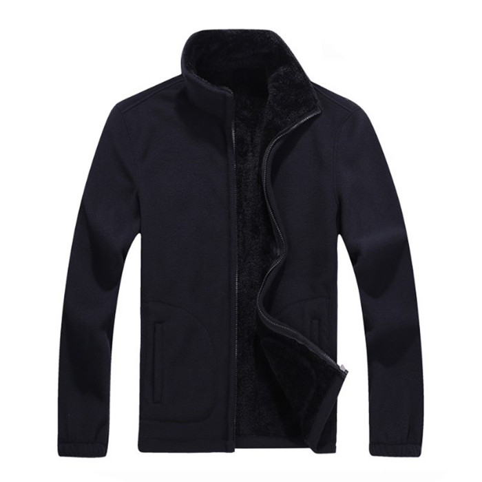 2018 Top quality Mens Plus velvet thickening Sweater Fleece fashion Casual Cardigan Add fertilizer to increase code Sweater