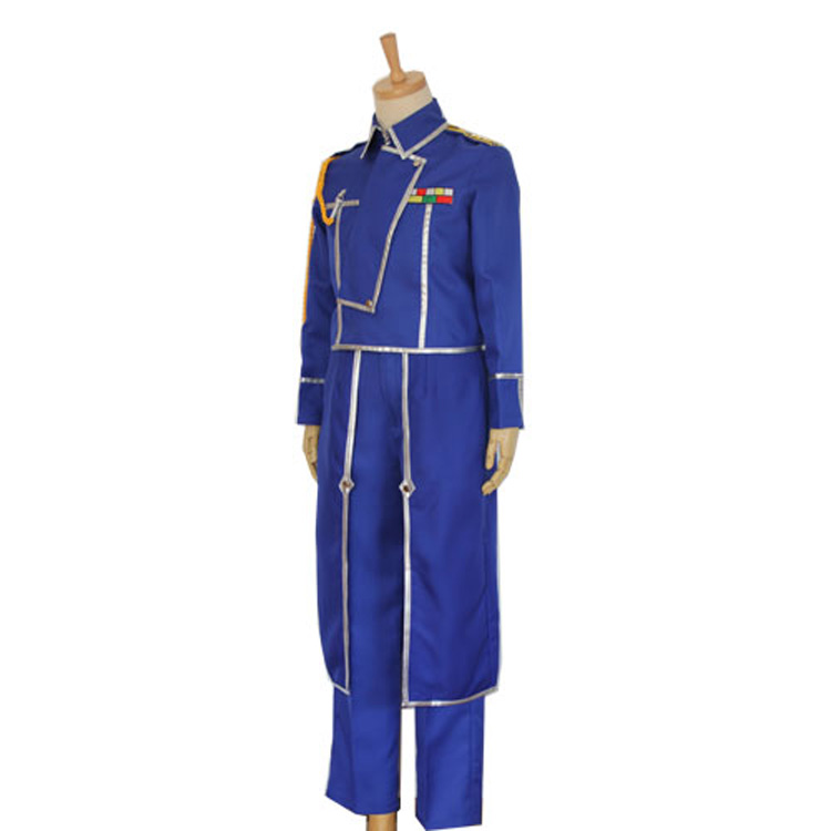 Image 2 - Anime Fullmetal Alchemist Cosplay Roy Mustang Costumes Military Uniform Suit Coat + Pants + Apron-in Anime Costumes from Novelty & Special Use