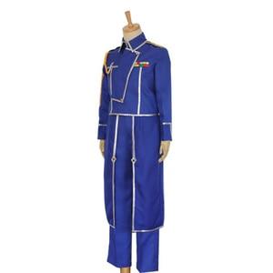 Image 2 - Anime Fullmetal Alchemist Cosplay Roy Mustang Costumes Military Uniform Suit Coat + Pants + Apron