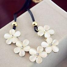 ba202e225c51 2018 mujeres moda cristal flor Charm Choker Chunky declaración Bib collar  de cadena chica joyería accesorio de la boda