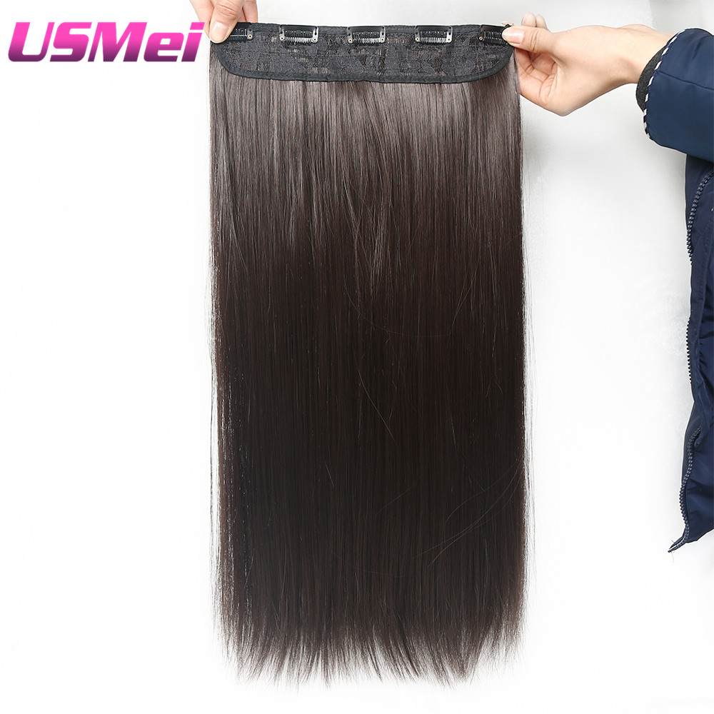 USMEI 5 κλιπ / τεμάχιο Φυσικό ευθεία - Συνθετικά μαλλιά - Φωτογραφία 2