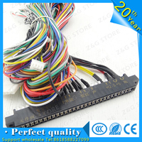 4pcs Jamma Harness with 5, 6 action button wires/Jamma 28 pin with 5,6 buttons wires for arcade game machine/cabinet accessories