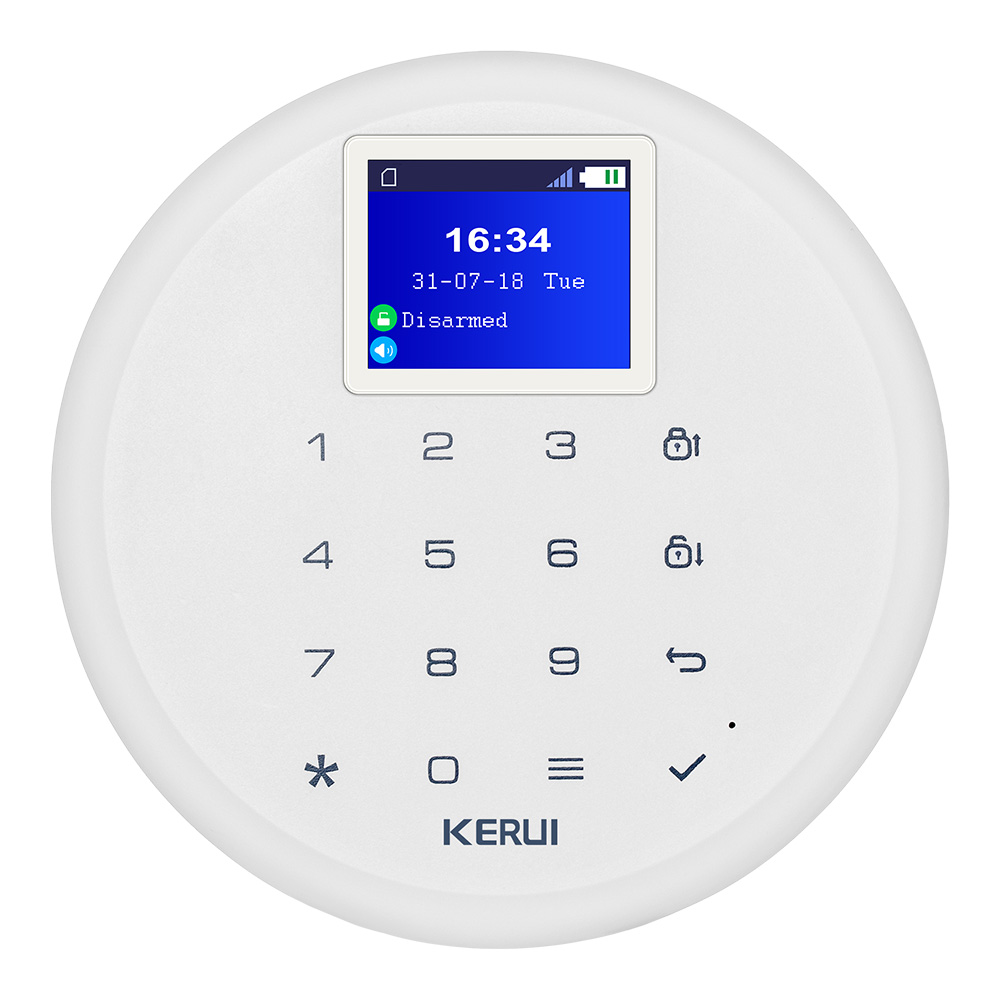 KERUI G17 Android IOS APP Control GSM Home Security Alarm System 1.7-inch Touch Screen 6 Language Wireless Security Alarm System gsm alarm system with multi language english german italian dutch menu for option home security 7 inch touch screen home alarm
