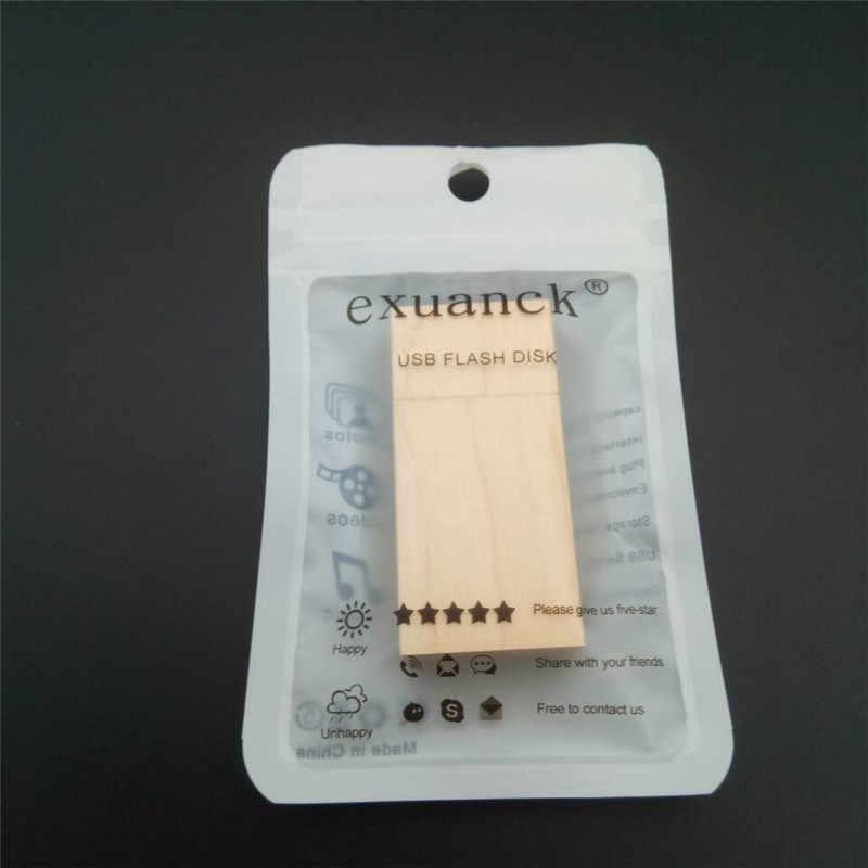 Exuanck DIY Пользовательский логотип клен дерево эксклюзивный usb 3,0 4 ГБ 8 ГБ 16 ГБ 32 ГБ 64 ГБ флэш-накопитель флэш-память диск (30 шт бесплатный логотип)