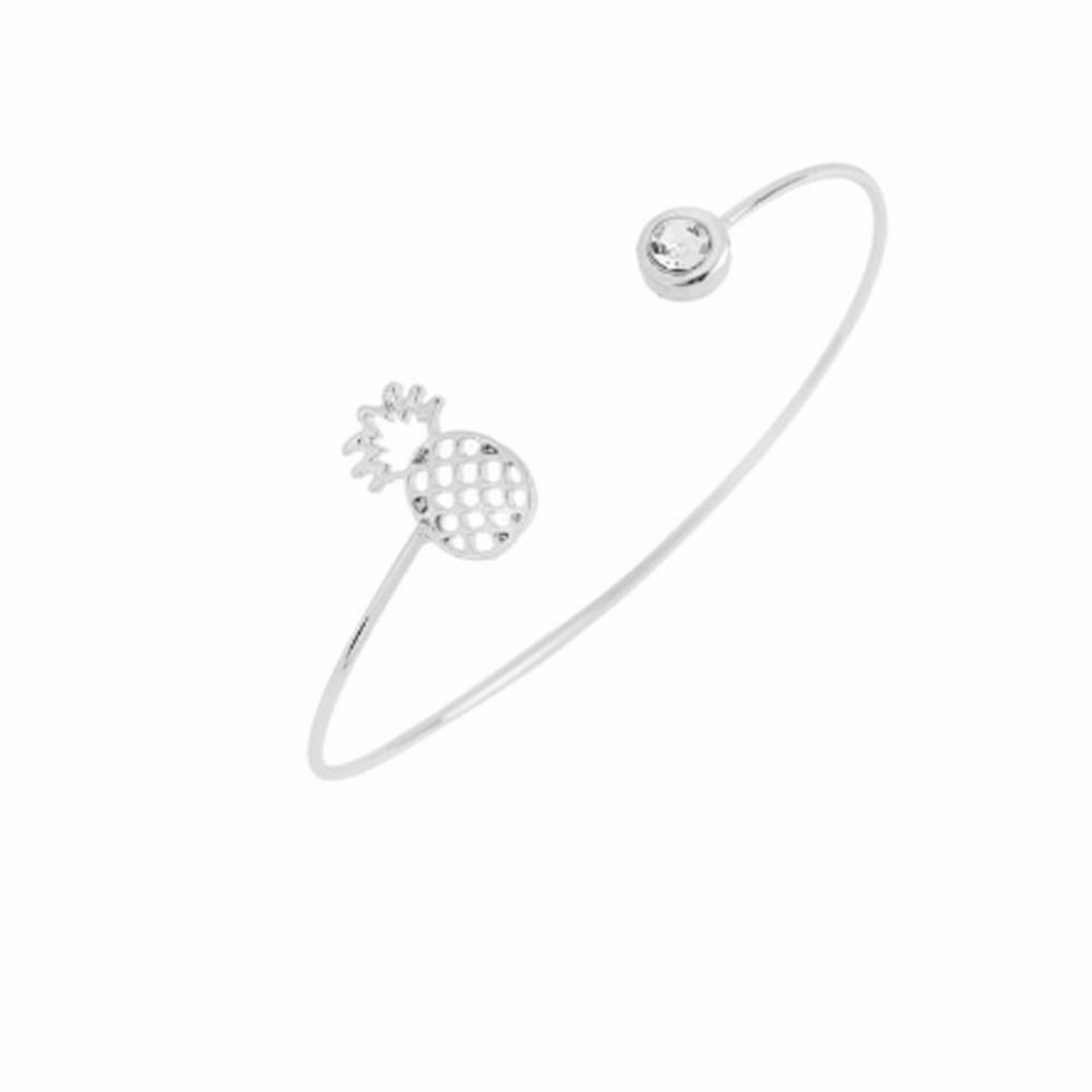 bracelet argent ananas