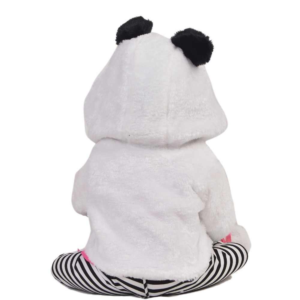 """Лидер продаж Гавайская гитара 23 дюймов Reborn Baby Doll полный силиконовые средства ухода за кожей реалистичные Модная одежда для детей, Детская мода возрождающая кукла Boneca Косплэй """"Панда"""" для детей Рождественский подарок"""