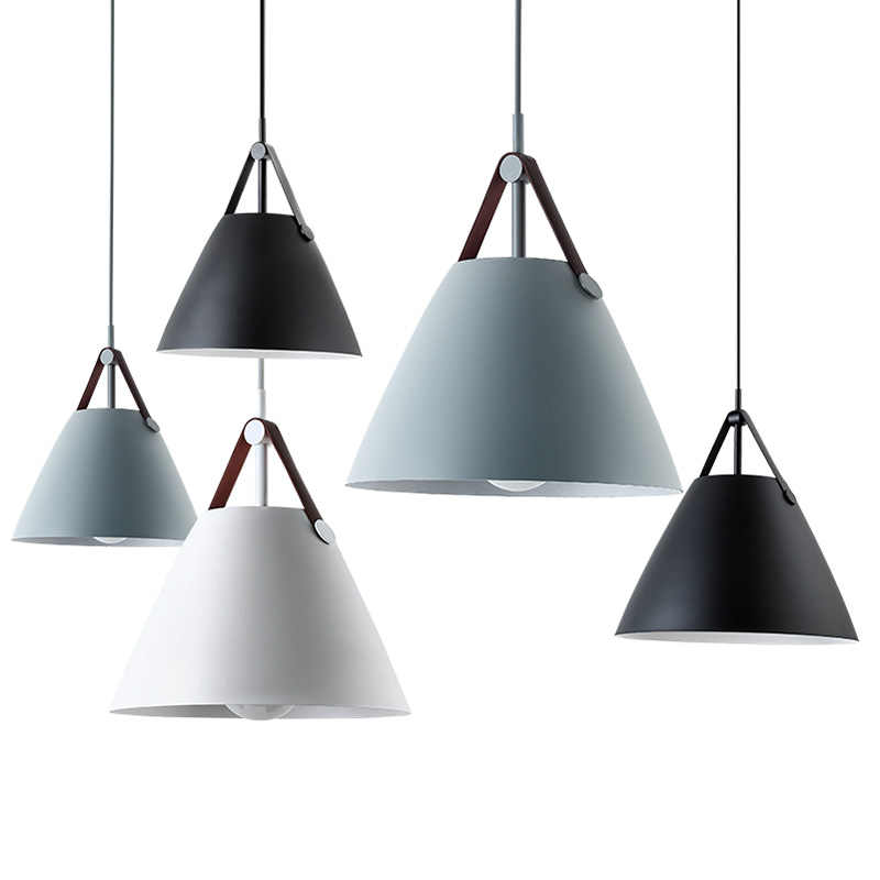 IKVVT современные E27 подвесные светильники железа Макарон подвесной светильник одна осветительная головка, подвесной светильник, Ресторан Спальня исследование осветительные приборы
